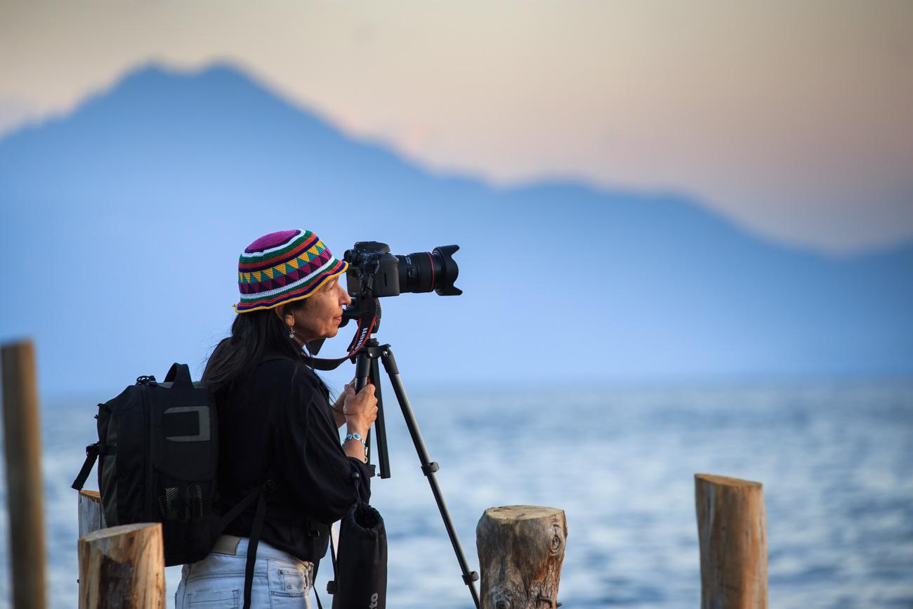fotografia de natureza tripé lago vulcão guatemala atitlán paisagem