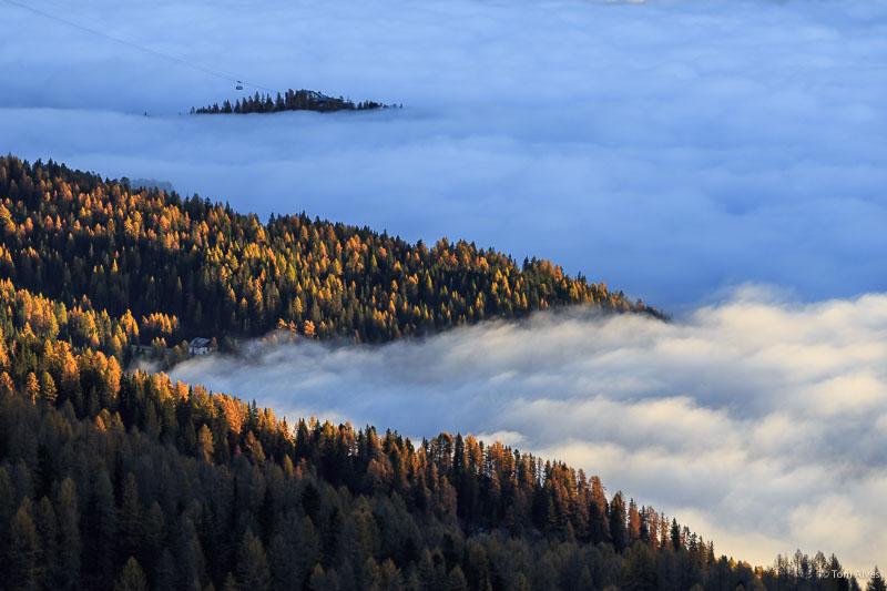 inversão térmica nuvens dolomitas